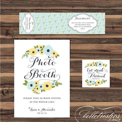 romantic hand drawn floral printable diy photo booth sign