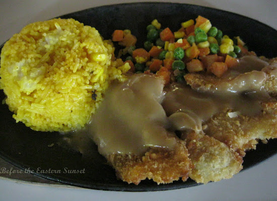 Sizzling fish fillet at Splash Island Waterpark