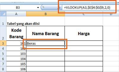 Fungsi VLOOKUP dan HLOOKUP dalam Ms.Excel
