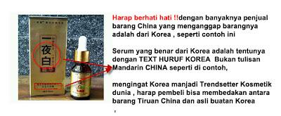 contoh serum palsu buatan China