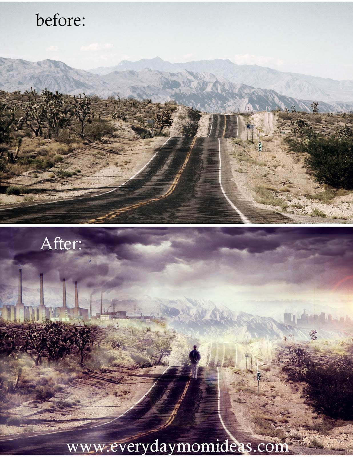 Cool Photoshop Ideas Projects  - Julia Deleeuw Dystopian Photoshop Project