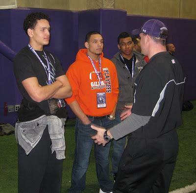 4* 2014 WR Derek Kief, 4* 2014 ATH (QB/WR) Darien Watkins with Northwestern Wildcats Head Coach Pat Fitzgerald