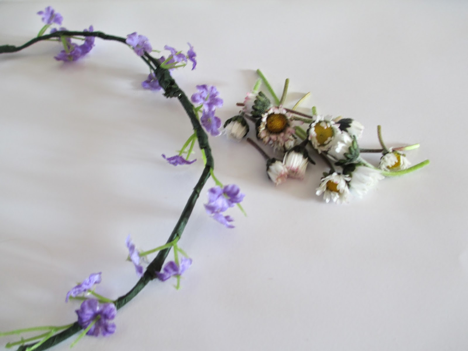 Tins little world diyupcycled flower crown 1 old flower crown flower crown that you want to change daisies or any other small flower thin wireoptional izmirmasajfo