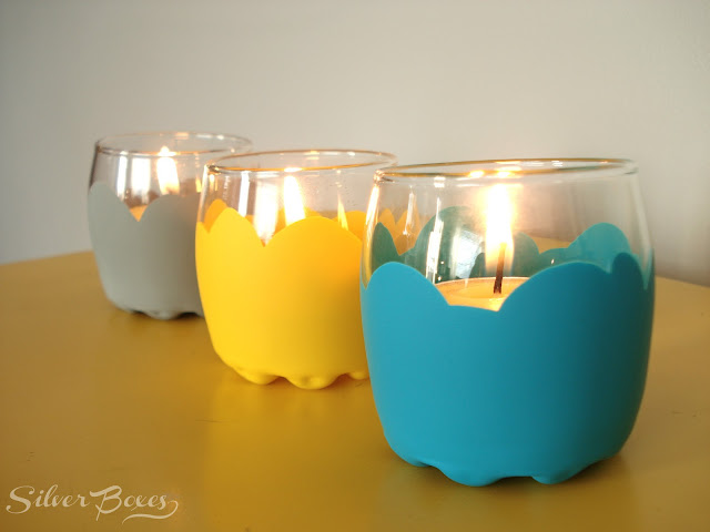 painted votive holders