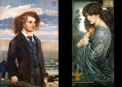 Swinburne's vision of Proserpine across the Black River - created by me, Gray Woodland, from public domain works by William Bell Scott and Dante Gabriel Rosetti - free to reuse, attribution requested.