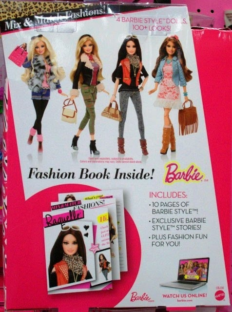 Mattel Barbie Style Raquelle box back