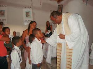 Irmão de Bianca também foi batizado