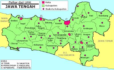 Daftar gaji UMK Jawa Tengah 2015