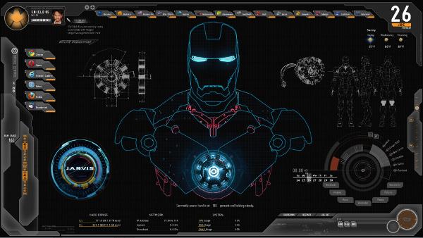 tony stark computer theme