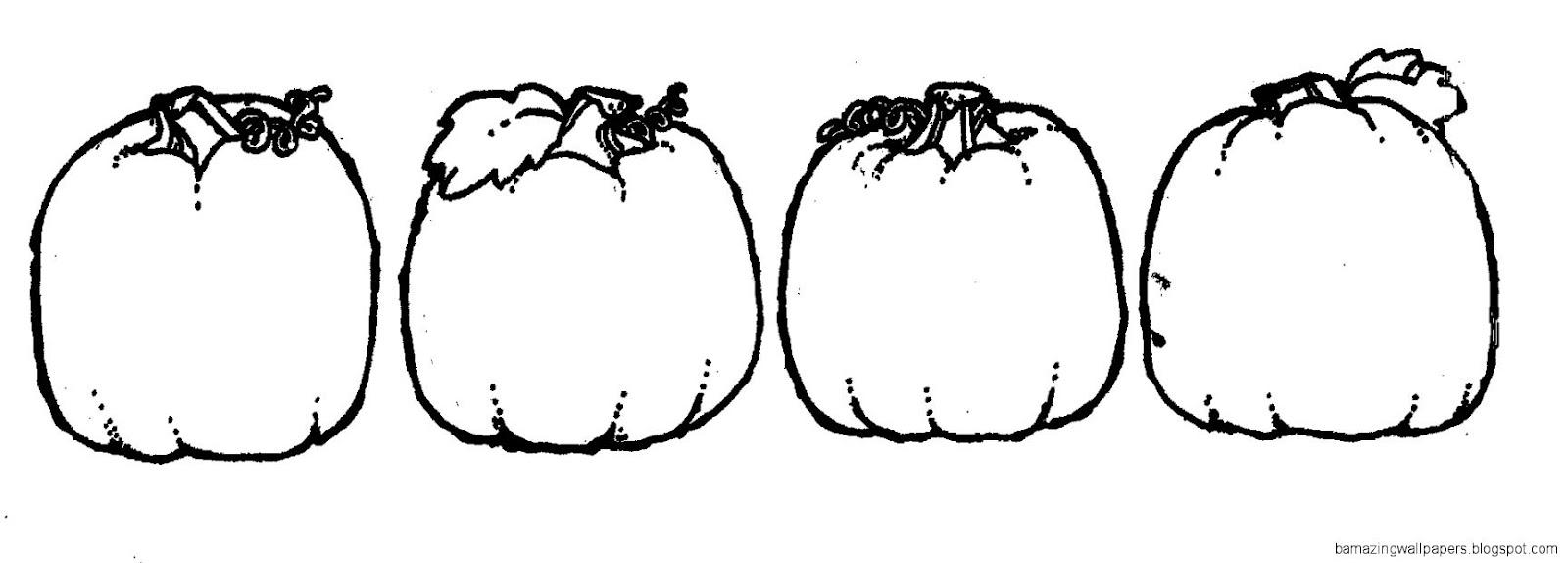 Pumpkin Border Black And White Clipart   Clipart Kid