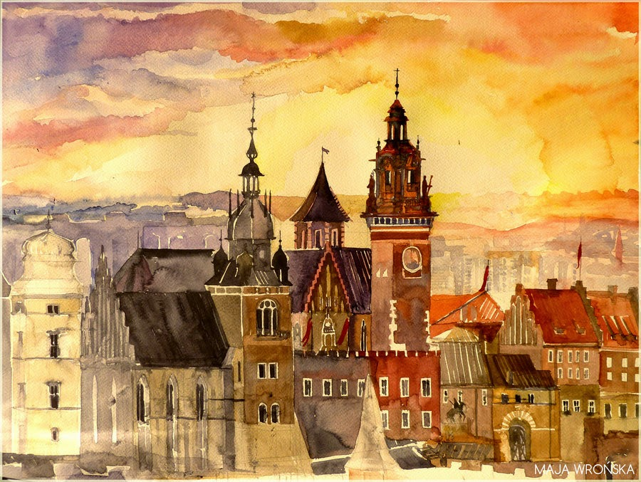 13-Krakow-Maja-Wronska-Travels-Architecture-Paintings-www-designstack-co