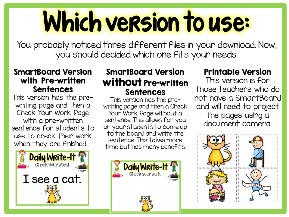 https://www.teacherspayteachers.com/Product/Daily-Write-It-Dictated-Wrting-Routine-w-Simple-Sentences-Smartboard-Print-1730231