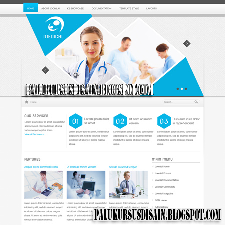 Medical Template For Joomla 1.5 & 2.5