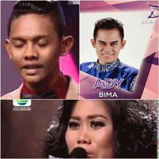 Lagu-lagu Aqil Makassar, Ady Bima, evi masamba D'academy 2