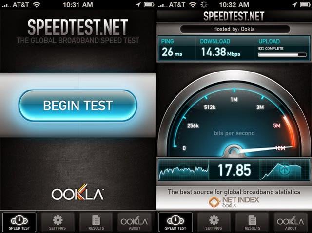 Speedtest uygulaması
