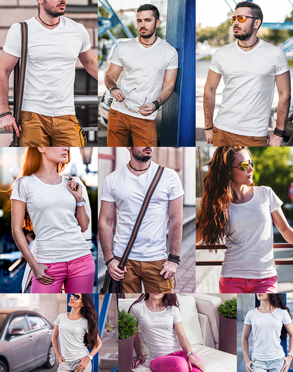 Download T-shirt Mockup PSD Terbaru Gratis - T-Shirt Fashion Mock-Up