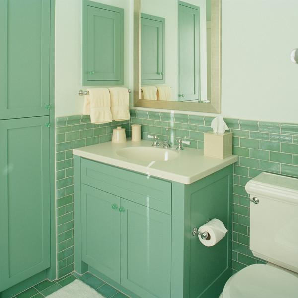 Baño Color Verde Agua:Inexpensive Bathroom Vanity