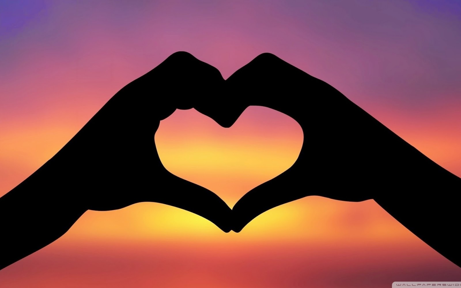 Love Wallpapers Sunset Hands Love Woman: Hand Shaped Love Wallpaper In Sunset