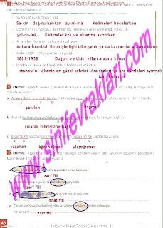 8.Sinif Turkce Enderun Yayinlari Calisma Kitabi Cevaplari Sayfa 46