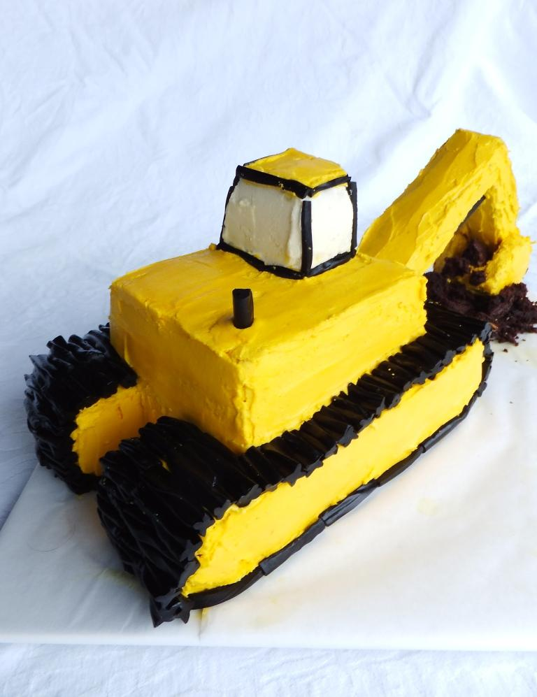 Milacuatro How To Make A 3d Digger Cake Excavator Cake