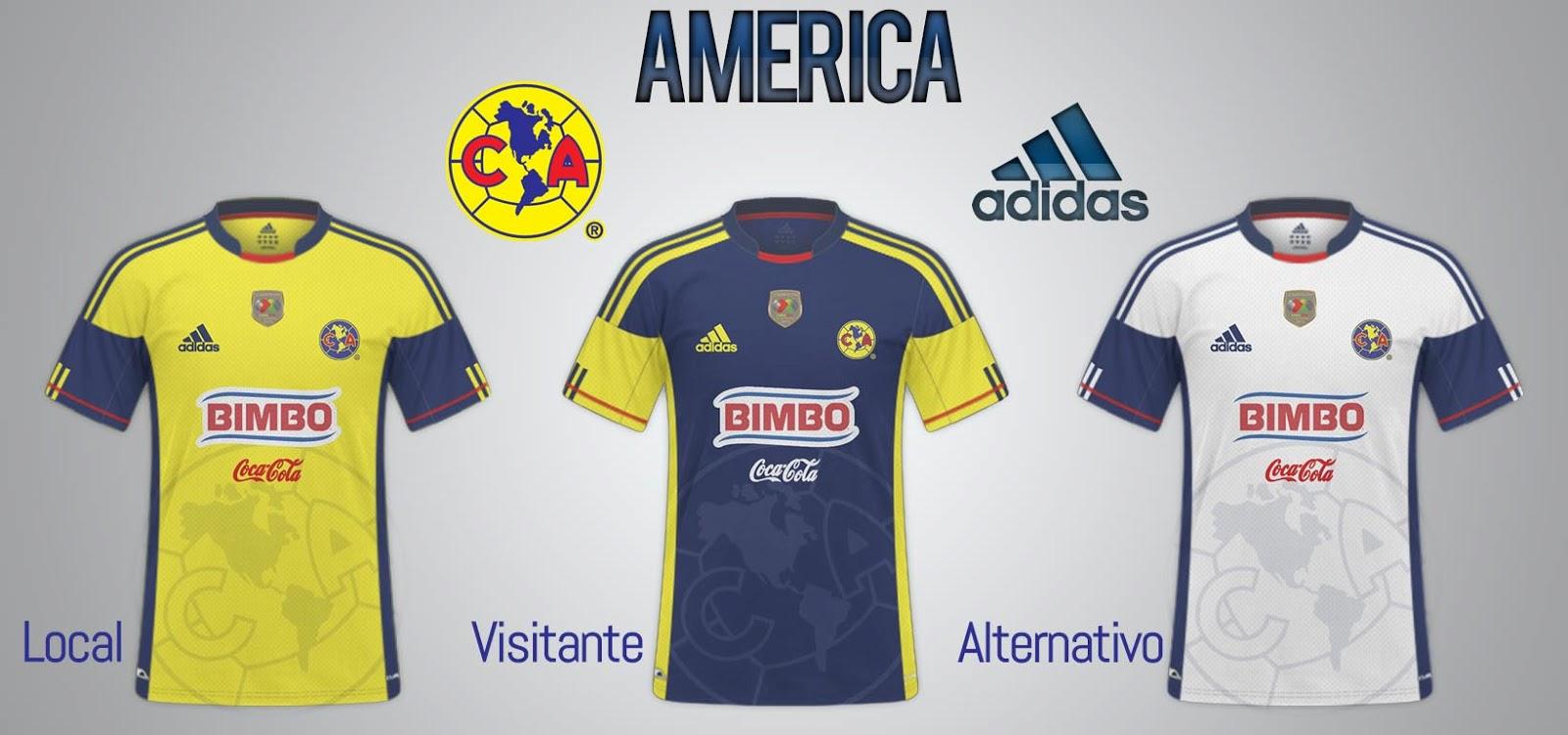 F tbol nueva piel fb kits design nueva piel america for Cuarto uniforme del america