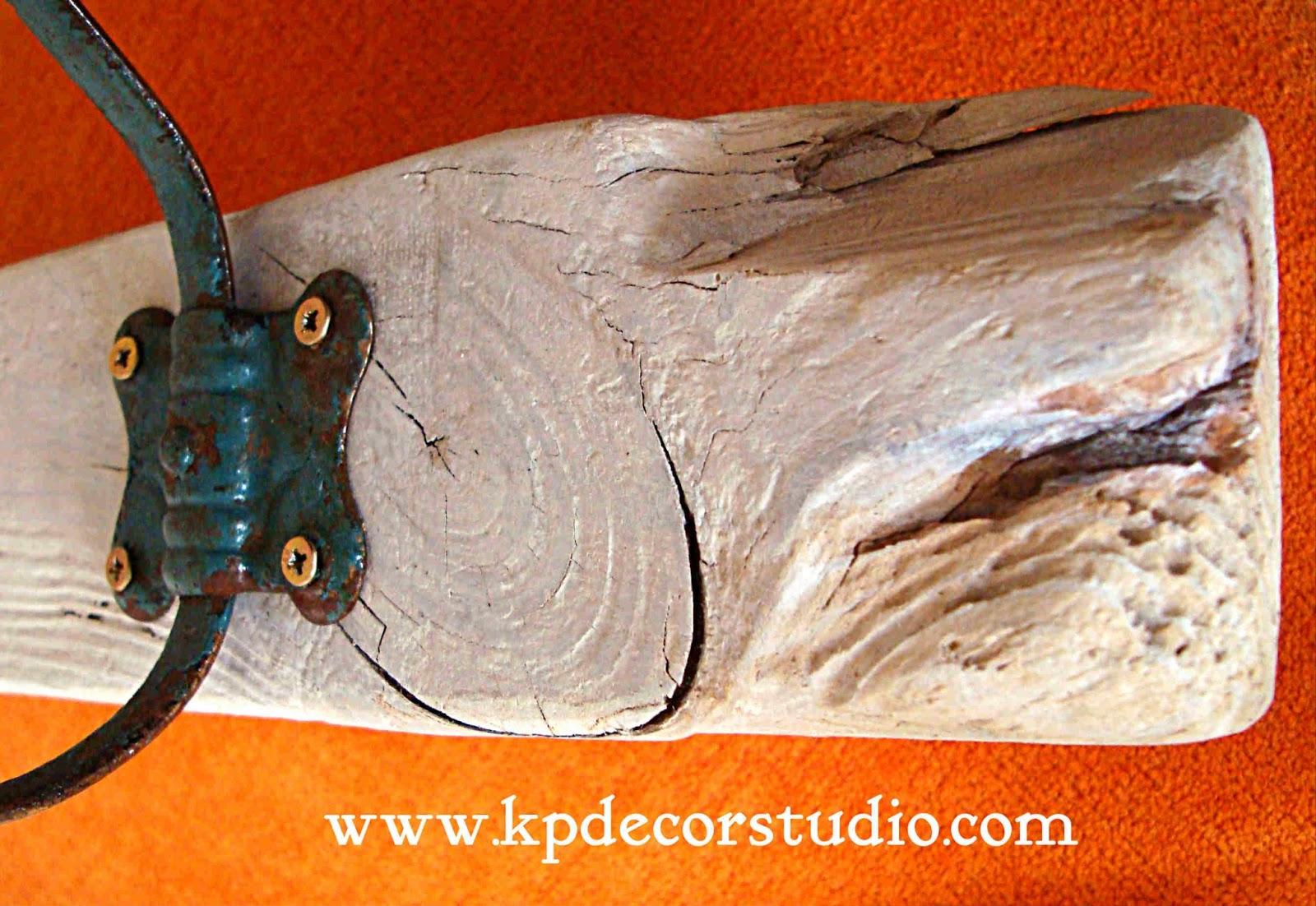 Kp tienda vintage online perchero artesanal de madera con - Colgadores de pared de madera ...