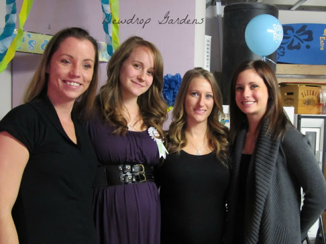 Two of my daughters and two nieces at the shower