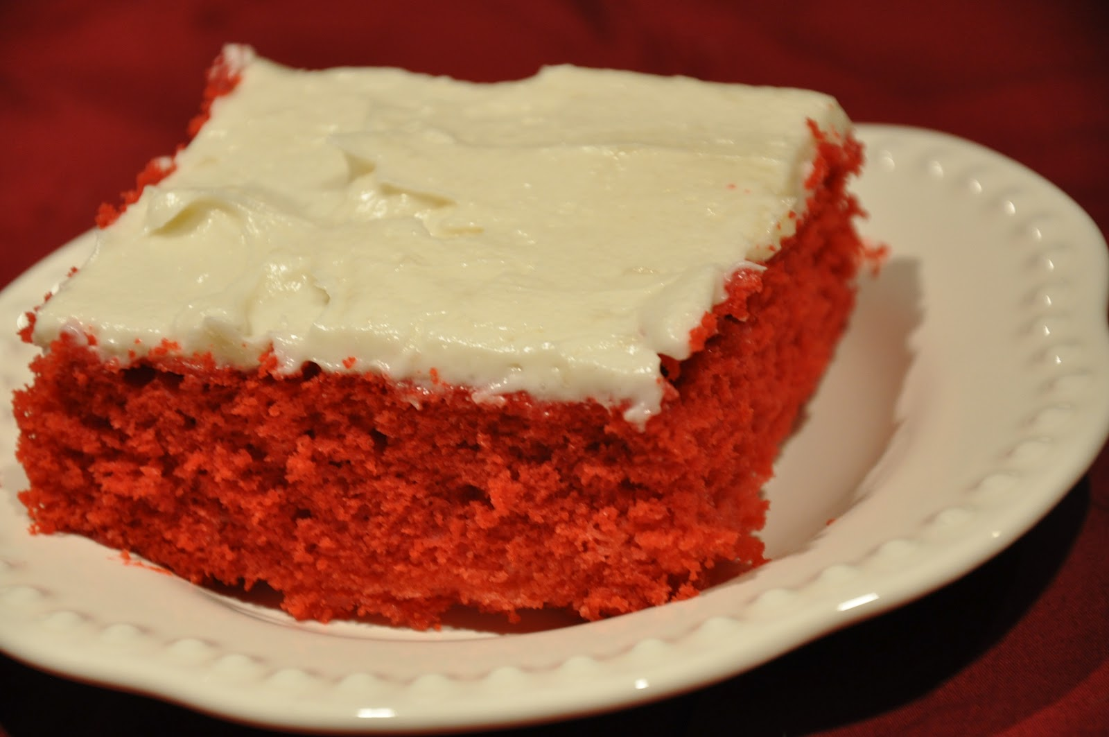Elizabeth Ann's Recipe Box: Red Velvet Sheet Cake with That's The Bes...