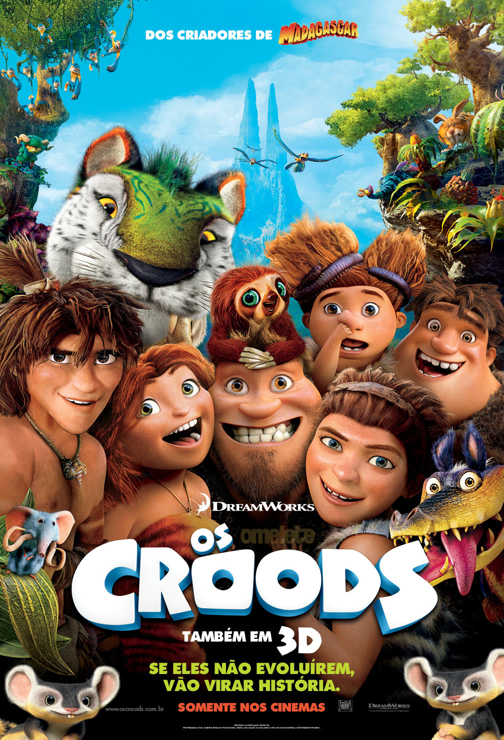 Os Croods (The Croods) (2013) DVDRip Dual Áudio e DVD R   Torrent Torrent Grátis