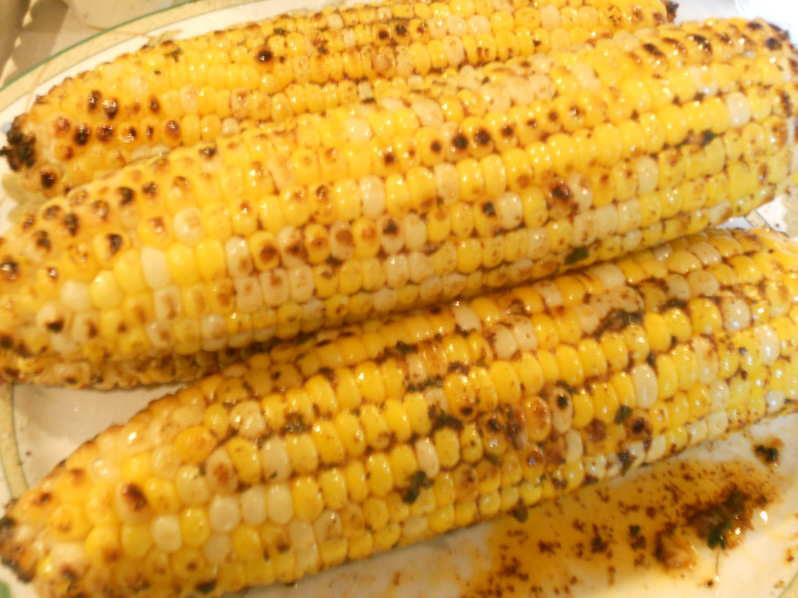 Grilled Corn on the Cob with Chili-Lime Butter