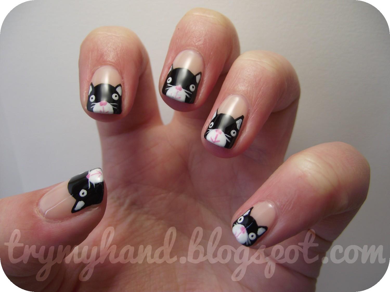 Try My Hand: Alphabet Nail Art Challenge : K for Kittens