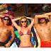 Fiorella Mattheis e Pato curtem dia de sol e atriz mostra barriga saradíssima