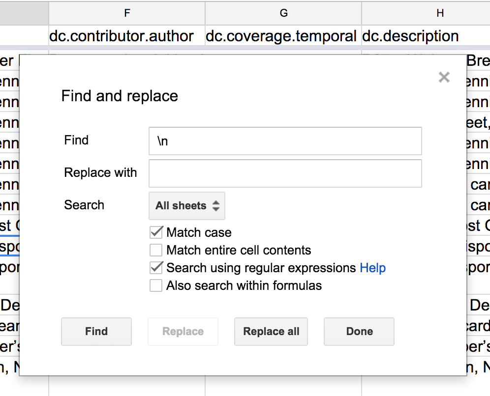 Peter Dietz How To Replace All Tab And Newline Characters In A - Google docs spreadsheet