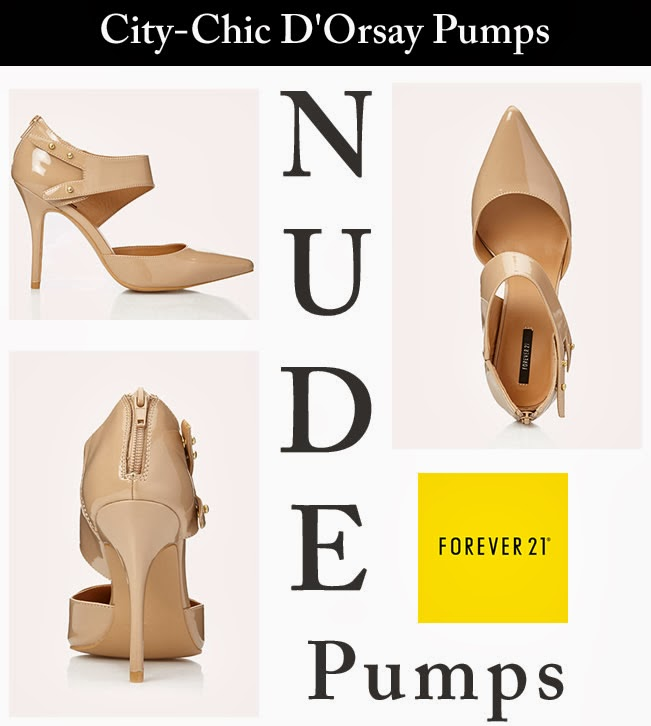 Forever 21 D'Orsay Nude Color Pumps