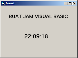 Cara Membuat Jam Digital di Visual Basic