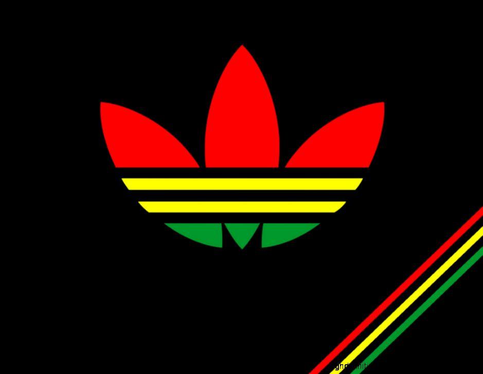 Cool Iphone Wallpapers Adidas Logo Rasta Wallpapers Hd
