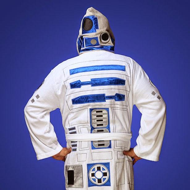 Bata de baño inspirada en R2-D2