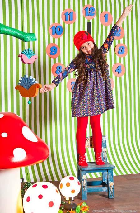 vestidos y accesorios para  niñas invierno 2014