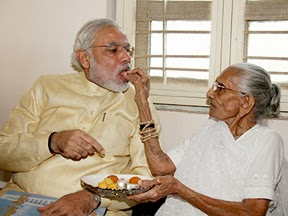 63 Birthday 17 September 2013 modi with his mother