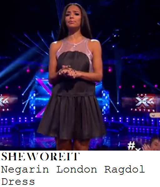 sarah-jane-crawford-black-and-silver-cream-sheer-panel-sleeveless-pleated-dress-xtra-factor