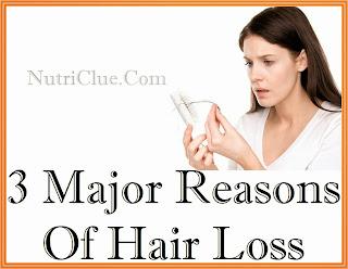 3 Major Reasons Of Hair Loss