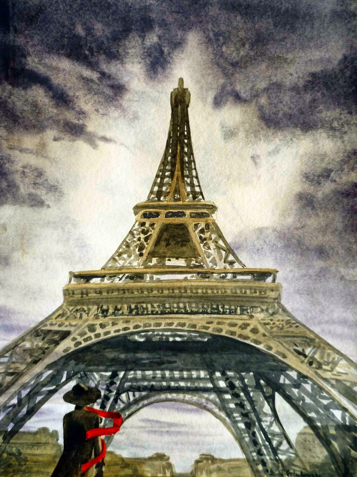 evening in Paris red scarf