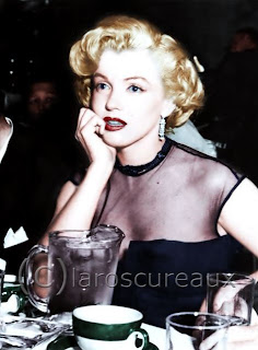I hope you'll visit Claroscureaux to see his latest colorizations of Marilyn Monroe.