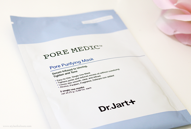 Dr.Jart+ Pore Medic Pore Purifying Mask Review on Oily Acne prone skin