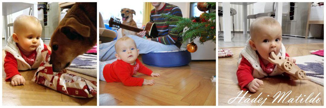 Vánoce, osmiměsíční miminko, první Vánoce