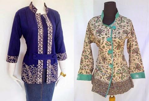 baju batik kerja di atas merupakan 10 model busana batik untuk kerja ...