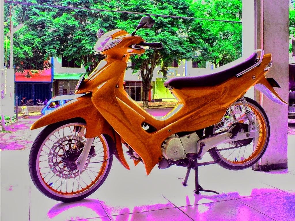Foto Gambar Modifikasi Suzuki Smash Terbaru