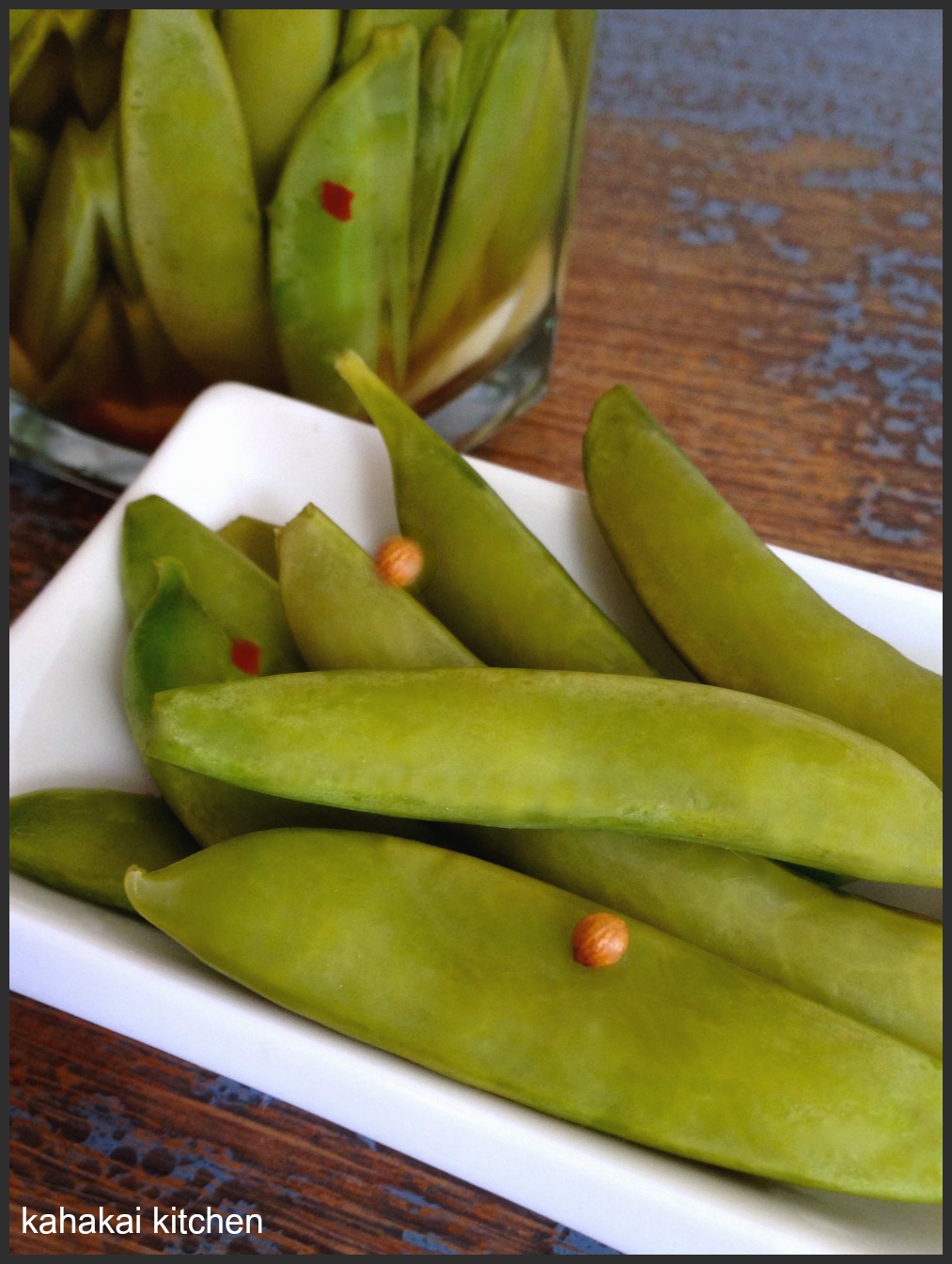 "... "" by Ann Morgan, Served with Quick-Pickled (Sugar Snap) Peas in a Pod"