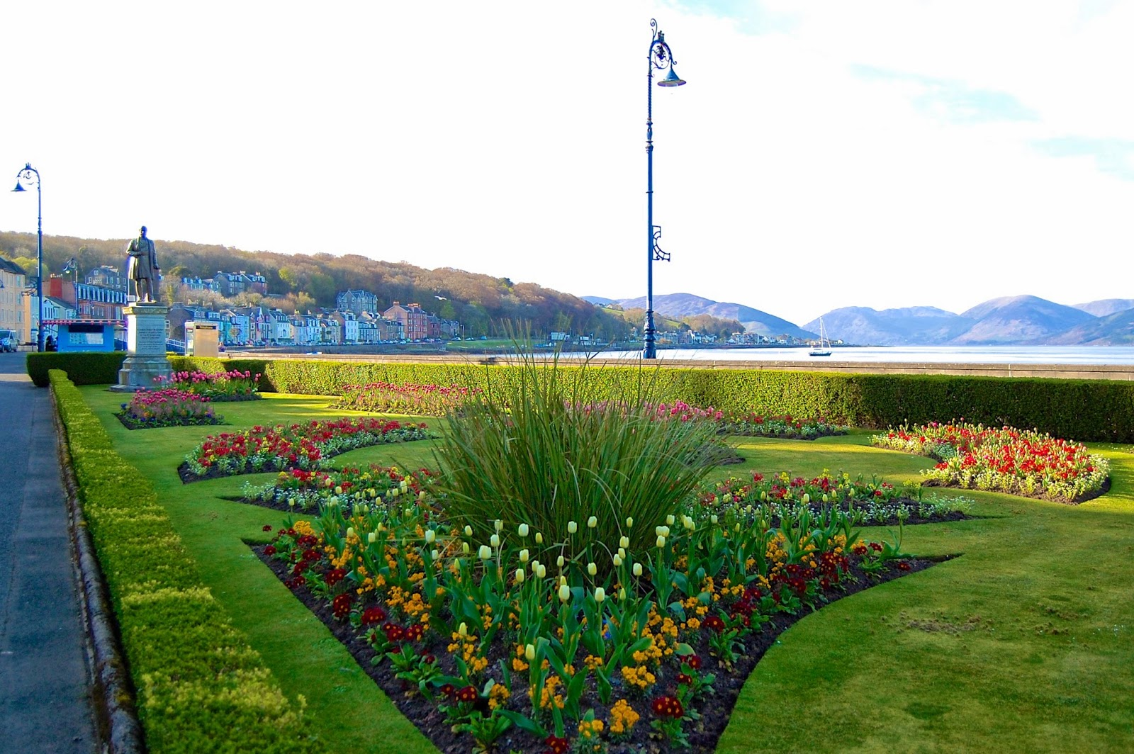 Ornamental gardens on Rothesay's promenade
