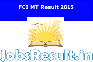 FCI MT Result 2015